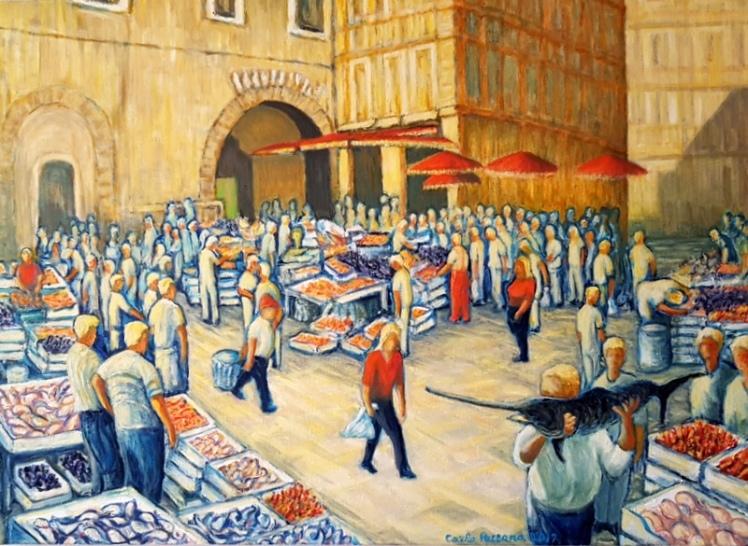 Carlo_Pezzana_il mercato del pesce_ArtistiinMovimento